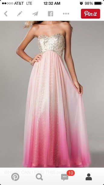 dress prom dress sequins long shiny