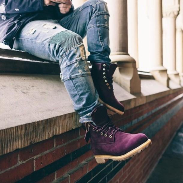 shoes boots burgundy love desperatelyneedthem jeans