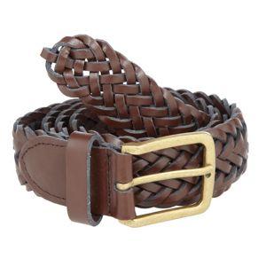 Red Herring Brown plaited leather belt- at Debenhams Mobile