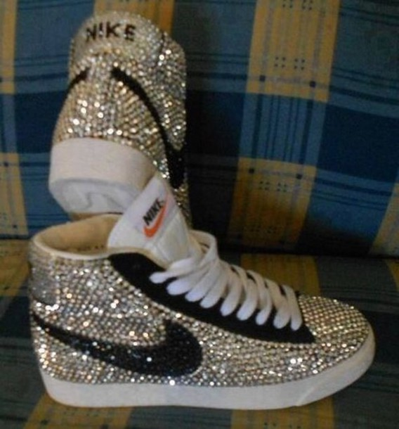 Bling Wedge Tennis Shoes