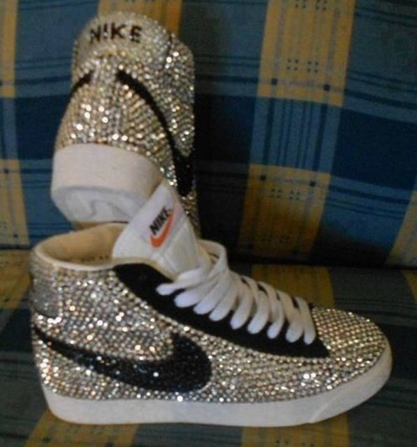 shoes nike rhinestone jordans diamonte nike sneakers trainers