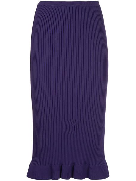 Aula skirt pencil skirt women purple pink