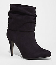 SLOUCHY HEELED BOOTIE | Express