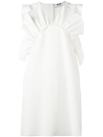 dress pleated women spandex white