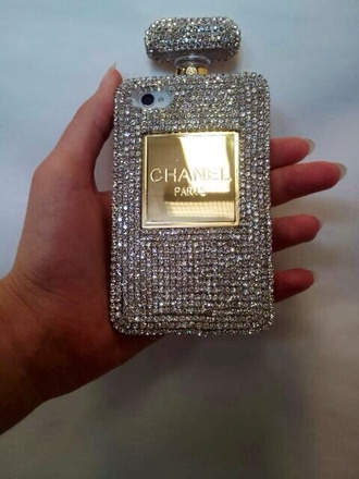 phone cover chanel glitter perfume iphone case