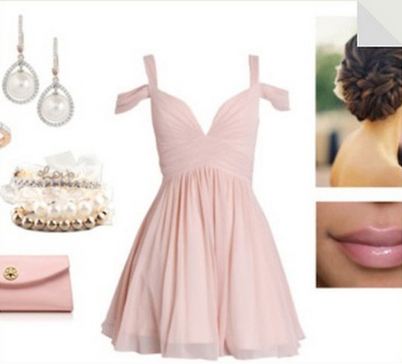 pastel pink dress prom dress prom dresses 2014 pastel dress short dress prom party dress homecoming dress pretty dress pink dress