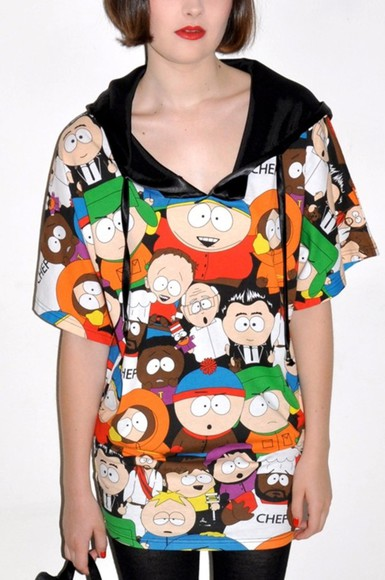retro sweater south park kenny cartman sweatshirt oversized sweater