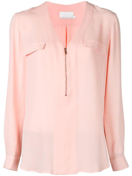 GINGER & SMART blouse women silk purple pink top