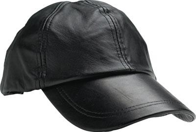 New Mens Black Solid Leather Baseball Ball Cap Hat Biker Trucker ... 4797496e5a88