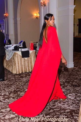 dress cape dress red gown red gown girls love cut out cape ruby beautiful.gown red coat fashion flawless fierce cute dress backless dress backless prom dress