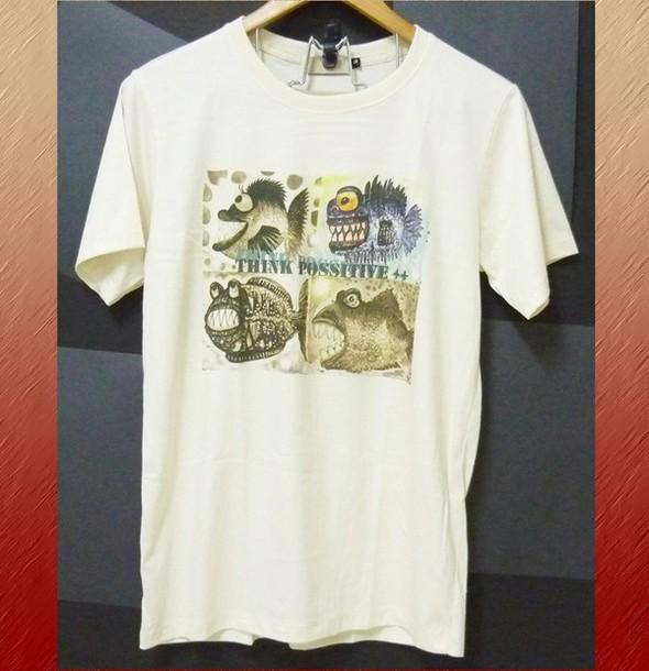 shirt monster tshirt fish shirt art tshirt whimsical art cotton tshirt