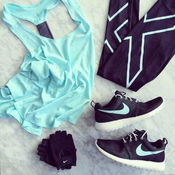 tights black sportswear nike nike sneakers