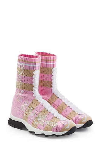 boots stripes shoes