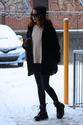 babes in velvet blogger coat winter outfits drmartens knitted sweater