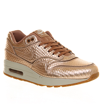 6838fc180f (179; Nike-Red-Bronze-Collection-copy; Nike Air Max 1 (l) Metallic Bronze  Cut Out - Hers trainers ...