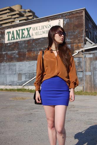 ivy pinkspider blue skirt skirt