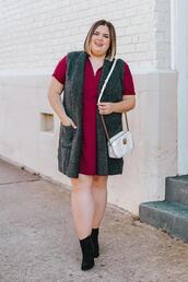 stylishsassy&classy,blogger,dress,sweater,jacket,shoes,bag,vest,plus size