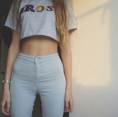 jeans,high waisted jeans,pale,thinspo,grunge,tumblr outfit,alternative,t-shirt,top