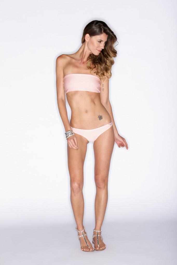 Soah Swimwear Hannah Bikini Top - Rose Pink | Pink Bikini Top