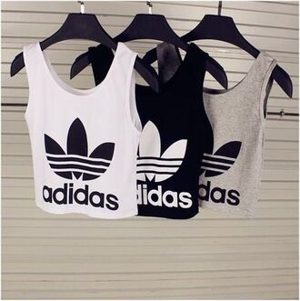 tank top adidas crop tops top shirt adidas originals cute casual cropt tank top style scrapbook workout haut adidas adidas shirt