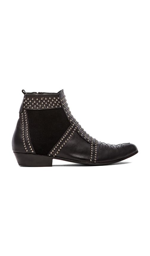 Anine bing boots with studs in black/silver from revolveclothing.com