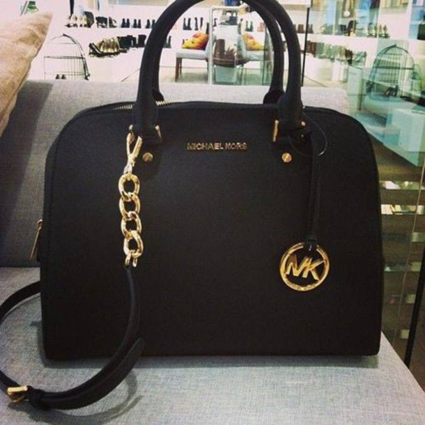 bag michael kors bag black mickaelkors wheretoget. Black Bedroom Furniture Sets. Home Design Ideas