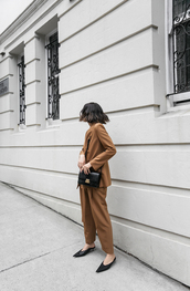 modern legacy,blogger,jacket,pants,top,bag,shoes,shoulder bag,blazer
