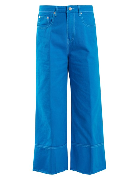 MSGM jeans cropped jeans cropped high blue
