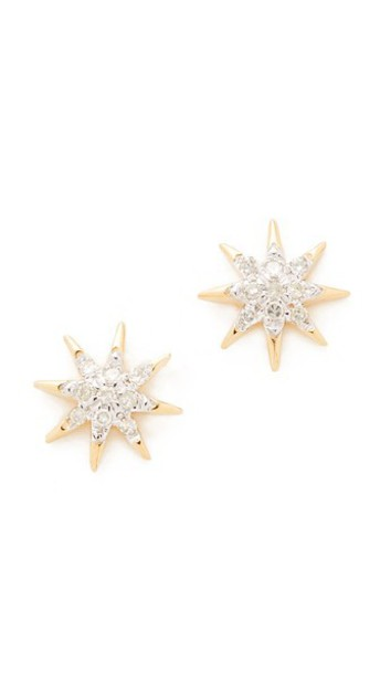 Adina Reyter Solid Pave Starburst Earrings in gold