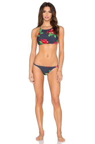 bikini cropped runway black