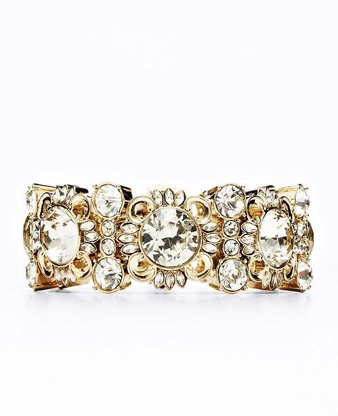 Baroque Crystal Bracelet | Ann Taylor