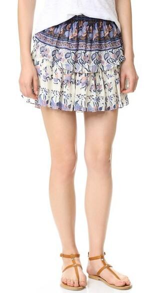 miniskirt ruffle lavender skirt