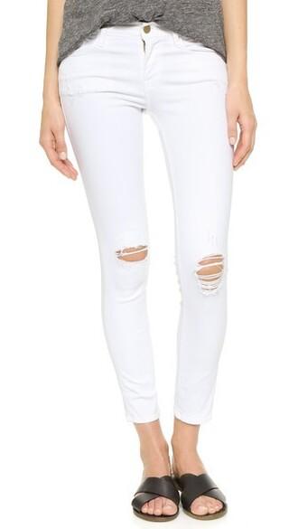 jeans lilac blanc