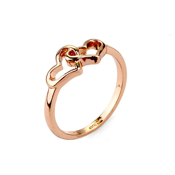 jewels heart ring gold rings beautiful lady fashion women fashion fashion jewelry women jewelry double heart ring trending now popular lady jewelry women fasion ring jewelry ring