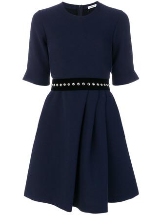 dress women blue wool