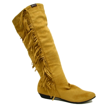 Womens camel tassel ruched boho pixie boots size uk 3