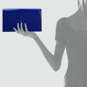 bag,ysl,yves saint laurent,blue,patent leather,clutch