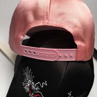 hat cap pink black girly fashion summer teenagers dragons boogzel