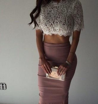 skirt rose long skirt high wasted skirt blouse