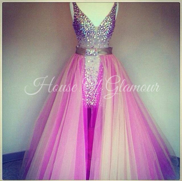 dress, removable skirt, crystal dress, sherri hill, prom dress ...