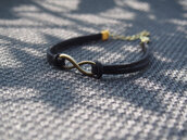 jewels,infinity,black,bracelets