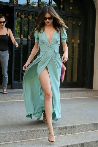 dress miranda kerr blue dress blue green green dress teal summer dress summer