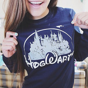 blouse,sweater,hogwarts,harry potter,disney,blue,castle,jumper,winter outfits,hipster,princess,navy