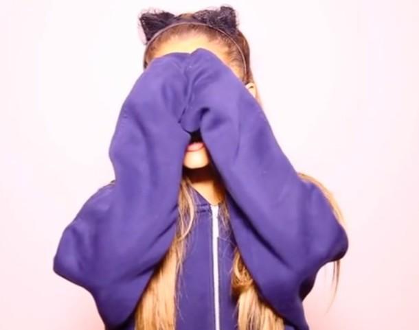 ariana grande hoodie hair accessory