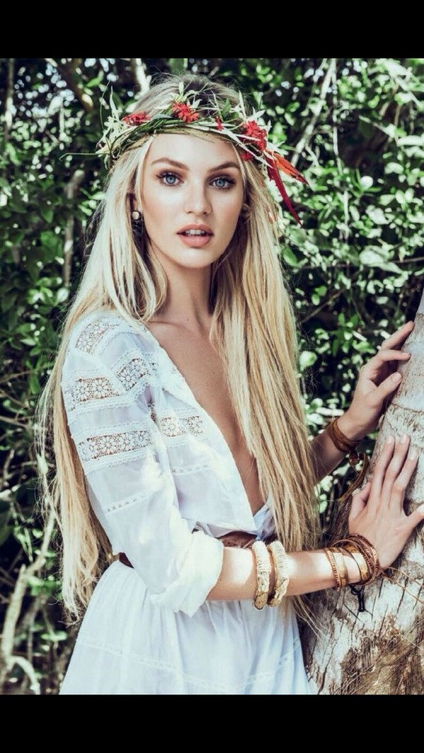 Crochet Candice Swanepoel Lace Dress White Dress White