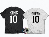t-shirt,queen,king and queen,number,number tee,number shirt,king 01 queen 01,matching set,matching shirts,matching couples,cool,colorful,cotton,cotton t-shirt,comfy,outfit,tumblr outfit,cute outfits