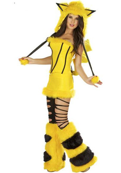 Pikachu Pocket Monster Cosplay Halloween Dress