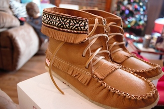 aztec shoes boots indian boots brown