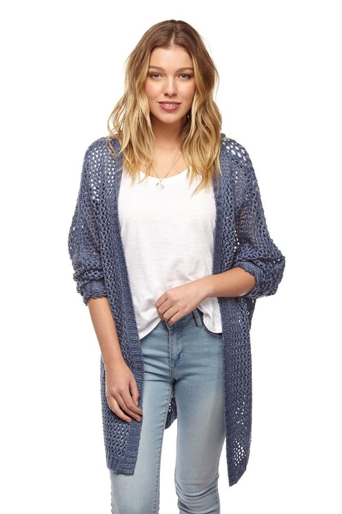 felicity 2 stitch cardi | Cotton On