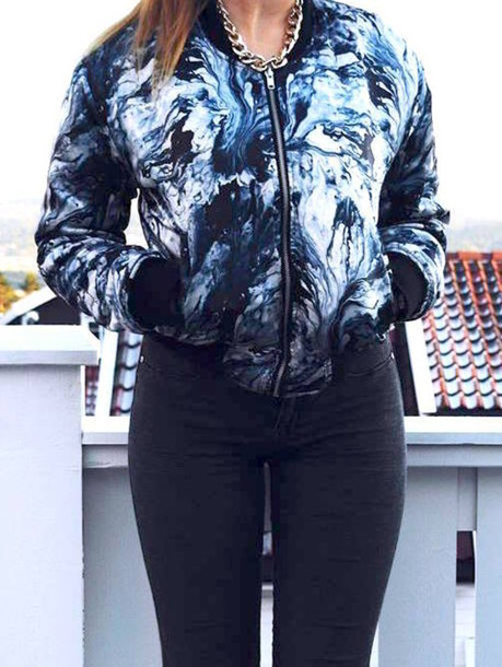 jacket clothes pattern cool jacket streetstyle blue